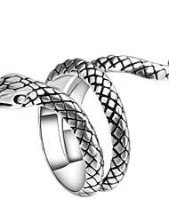 abordables -Bague Fantaisie Large Bague / Anneaux Homme Sculpture Serpent Animal Rétro Punk Branché Bijoux Argent Cool pour Carnaval Soirée 1pc
