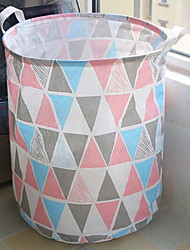 cheap -Cotton / Polyster Round New Design / Adorable Home Organization, 1pc Laundry Bag & Basket
