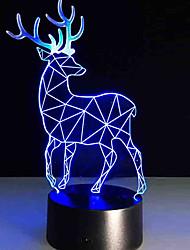 Недорогие -1 комплект 3D ночной свет USB Диммируемая / с USB кабелем 85-265 V