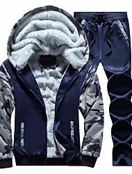 economico -Per uomo Essenziale Felpa con cappuccio Camouflage