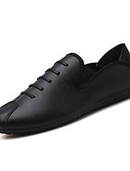 abordables -Homme Chaussures Polyuréthane Automne Confort / Chaussures de plongée Mocassins et Chaussons+D6148 Noir / Rouge