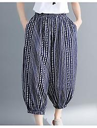 economico -Per donna Essenziale Harém Pantaloni - Tinta unita In bianco e nero