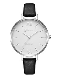 cheap -Geneva Women's Dress Watch / Wrist Watch Chinese New Design / Casual Watch / Cool Leather Band Casual / Fashion Black / Brown / One Year