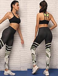 baratos -Mulheres Calças de Yoga - Preto Esportes Meia-calça / Leggings Corrida, Fitness Roupas Esportivas Respirabilidade, Compressão Com Stretch