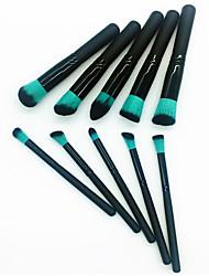 economico -10 pezzi Pennelli per il trucco Professionale Set di pennelli Pennello di fibre artificiali / Pennello di nylon Ecologico / Professionale / Soffice Legno / bambù