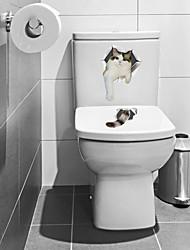 economico -Adesivi toilet - Adesivi murali animali Animali Salotto / Camera da letto / Bagno