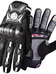 abordables -Scoyco Dedos completos Hombre Guantes de moto Fibra de carbon Pantalla táctil / Resistencia al desgaste / A Prueba de Golpes