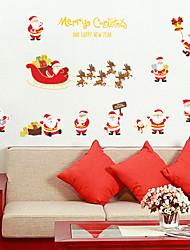 baratos -Autocolantes de Parede Decorativos - Adesivos de parede de pessoas Natal Sala de Estar / Quarto / Banheiro