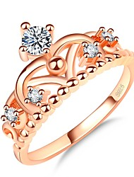 cheap -Women's Stylish Ring - Rose Gold Plated, Imitation Diamond Crown Korean, Fashion, Elegant 5 / 6 / 7 Rose Gold For Daily / Date