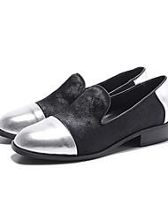 Недорогие -Жен. Обувь Конский волос Весна Удобная обувь На плокой подошве На низком каблуке Золотой / Серебряный