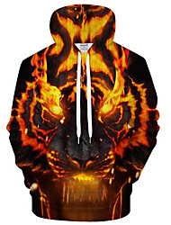 cheap -Men's Active / Exaggerated Hoodie - 3D / Cartoon, Print