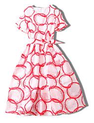 abordables -Femme Sortie Mince Trapèze Robe Mi-long