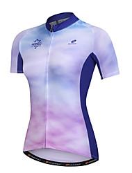 cheap -Nuckily Short Sleeve Cycling Jersey - Blue Bike Quick Dry