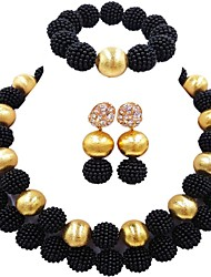 cheap -Women's Layered Jewelry Set - Ball Fashion Include Strand Bracelet Green / Pink / Hot Pink For Wedding