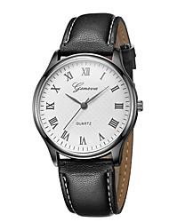 Недорогие -Geneva Жен. Наручные часы Китайский Новый дизайн / Повседневные часы / Cool Кожа Группа На каждый день / Мода Черный / Коричневый