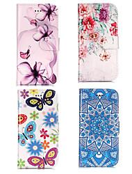 ieftine -Maska Pentru Samsung Galaxy S9 Plus / S9 Portofel / Titluar Card / Cu Stand Carcasă Telefon Floare Greu PU piele pentru S9 / S9 Plus / S8