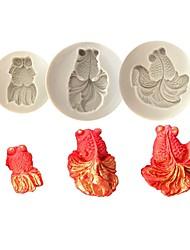 Недорогие -3шт силикагель Милый 3D Торты Животный принт Формы для пирожных Инструменты для выпечки