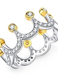 cheap -Women's Black Matte Vintage Style Ring - Imitation Diamond Crown Korean, Fashion, Elegant 6 / 7 / 8 Gold For Gift / Holiday