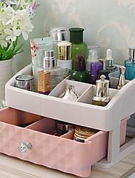 abordables -El plastico Rectángulo Nuevo diseño / Cool Casa Organización, 1pc Organizadores de Herramientas / Organizadores de Joyas / Almacenamiento de Maquillaje