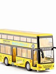 Недорогие -Игрушечные машинки Автобус Двухэтажный автобус Новый дизайн Металлический сплав Детские Для подростков Все Мальчики Девочки Игрушки Подарок 1 pcs