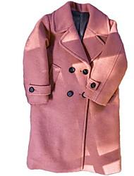 preiswerte -Kinder Mädchen Grundlegend Solide Langarm Lang Baumwolle Anzug & Blazer
