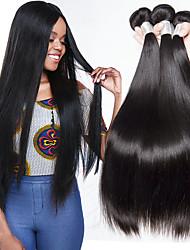 cheap -3 Bundles Brazilian Hair Straight Human Hair Natural Color Hair Weaves / Hair Bulk / Human Hair Extensions 8-28 inch Natural Color Human Hair Weaves Capless Fashionable Design / Best Quality / Hot