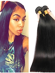 cheap -Malaysian Hair Straight Cosplay Suits / Natural Color Hair Weaves / Tea Party Favors 4 Bundles 8-28 inch Human Hair Weaves Soft / Hot Sale / Thick Natural Black Human Hair Extensions Women's