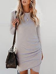 preiswerte -Damen Grundlegend / Street Schick Hülle Kleid Solide Knielang