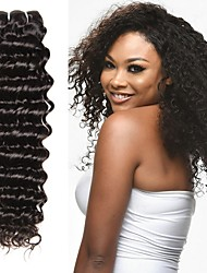 cheap -4 Bundles Brazilian Hair Deep Wave Human Hair Gifts / Cosplay Suits / Natural Color Hair Weaves / Hair Bulk 8-28 inch Natural Color Human Hair Weaves Classic / Thick / For Black Women Human Hair