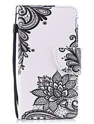 Недорогие -Кейс для Назначение Huawei P8 Lite Кошелек / Бумажник для карт / Флип Чехол Цветы Твердый Кожа PU для P8 Lite (2017) / Huawei P8 Lite