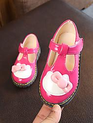 abordables -Fille Chaussures Polyuréthane Printemps été Confort / Chaussures de Demoiselle d'Honneur Fille Ballerines Marche Noeud / Scotch Magique pour Enfants Blanc / Noir / Rose