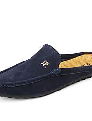 Недорогие -Муж. Замша / Кожа Весна лето Удобная обувь Башмаки и босоножки Контрастных цветов Оранжевый / Темно-синий / Хаки