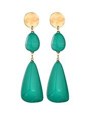 cheap -Women's Long Drop Earrings - Resin European, Trendy Black / Green For Holiday / Bar