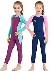 baratos -Dive&Sail Para Meninas Segunda-pele para Mergulho Proteção Solar UV, Compressão, UPF50+ Fibra Sintética / Elastano Corpo Inteiro Roupa de Banho Roupa de Praia Anti Atrito Zíper Frontal Natação