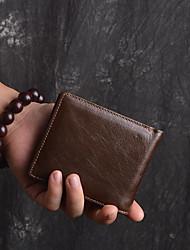 baratos -sacos unissexo carteira de couro nappa zipper café