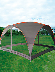 baratos -21Grams 8 pessoas Gazebo Única Camada Poste Barraca de acampamento Ao ar livre Respirabilidade, Resistente aos raios UV, Repelente de Insetos para Campismo / Escursão / Espeleologismo / Piquenique
