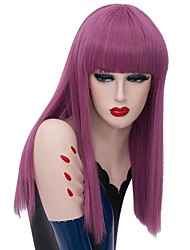 cheap -Wig Accessories / Synthetic Wig Straight Pink Braid Synthetic Hair Fashionable Design / Party Pink / Burgundy Wig Women's Short Capless