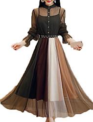 preiswerte -Damen Swing Kleid Maxi