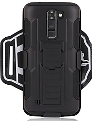 cheap -Case For LG G6 / G3 Sports Armband / Shockproof Armband Solid Colored Hard PC for LG K7