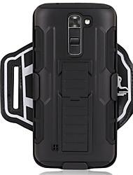 Недорогие -Кейс для Назначение LG G6 / G3 Спортивныеповязки / Защита от удара С ремешком на руку Однотонный Твердый ПК для LG K7