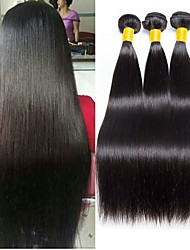 cheap -3 Bundles Indian Hair Straight Unprocessed Human Hair / Human Hair Gifts / Natural Color Hair Weaves / Tea Party Favors 8-28 inch Human Hair Weaves Best Quality / Hot Sale / Fashion Natural Color
