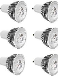 Недорогие -6шт 3 W 300 lm E14 / GU10 / GU5.3 Точечное LED освещение 3 Светодиодные бусины Высокомощный LED Декоративная Тёплый белый / Холодный белый 85-265 V