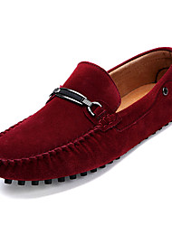 cheap -Men's Moccasin Suede / Cowhide Fall Loafers & Slip-Ons Yellow / Red / Blue