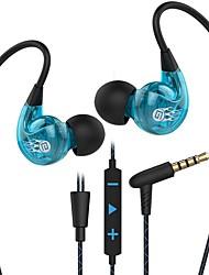 abordables -Factory OEM SP90 Dans l'oreille Câblé Ecouteurs Ecouteur ABS + PC Téléphone portable Écouteur Avec Microphone / Avec contrôle du volume Casque