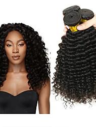 cheap -3 Bundles Peruvian Hair Deep Wave Human Hair Natural Color Hair Weaves / Hair Bulk / One Pack Solution / Human Hair Extensions 8-28 inch Natural Color Human Hair Weaves Creative / Best Quality / Hot