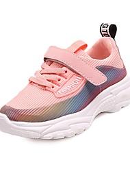 abordables -Chica Zapatos Malla Primavera verano Confort Zapatillas de deporte Baloncesto Cierre Autoadherente para Adolescente Blanco / Negro / Rosa