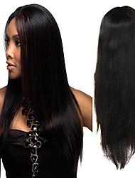 Недорогие -Натуральные волосы Полностью ленточные Парик Индийские волосы Прямой Черный Парик Ассиметричная стрижка 130% 150% 180% Плотность волос с детскими волосами Без запаха Шерсть Новое поступление Мода