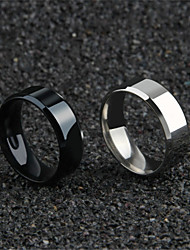 cheap -Men's Hollow Couple Rings / Band Ring / Ring - Titanium Steel Blessed, Faith Simple, Romantic, Korean 6 / 7 / 8 Gold / Black / Silver For Daily / Festival