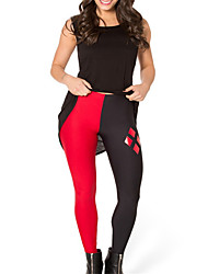 cheap -Women's Basic Legging - Color Block Mid Waist