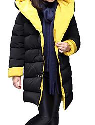 Недорогие -Дети Девочки Классический / Уличный стиль Спорт Однотонный Длинный рукав Длинная Хлопок На пуховой / хлопковой подкладке
